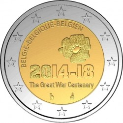 Belgium 2014 2 euro War