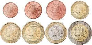 Lietuva euro coins 2015