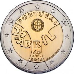 2 euro Portugal. 25 de Abril