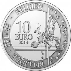 Belgium 2014. 10 euro. Adolphe Sax