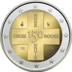 2 euro Belgium 2014 Red Cross