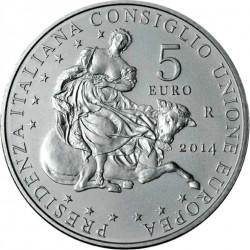 Italy 2014 5 euro EU rev