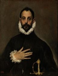 El Greco - El caballero de la mano en el pecho