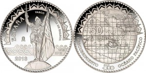 Spain 2013. 50 euro. Pacific Ocean