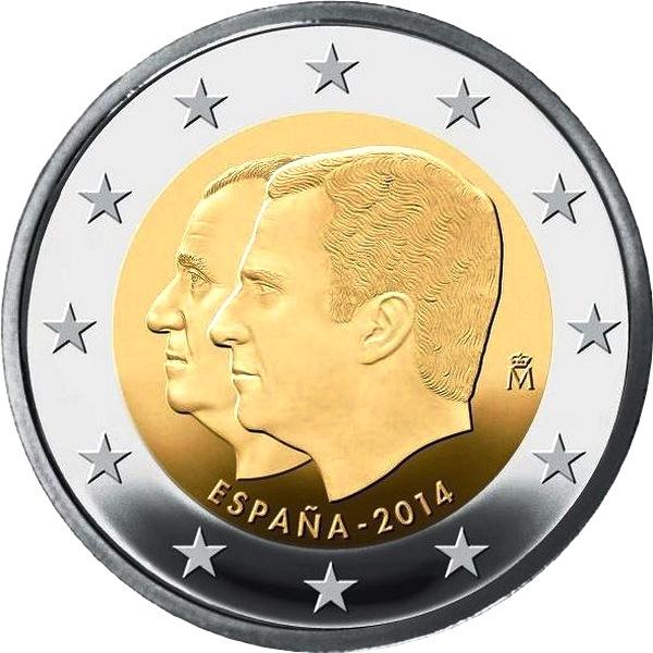 Монеты 2 евро испании стоимость 1 копейки 1899 года спб