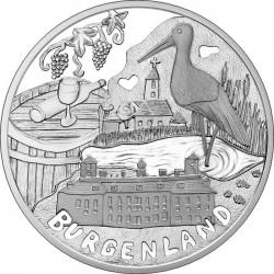 Austria 2015. 10 euro. Burgenland (Ag 925)