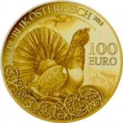 Austria 2015 100 euro Auerhuhn