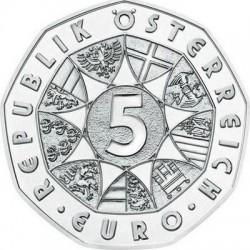 Austria 2015. 5 euro. Fledermaus (Ag 800)