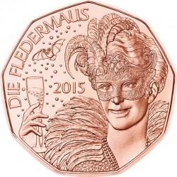 Austria 2015. 5 euro. Fledermaus (Cu)