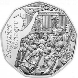 Austria 2015 5 euro Neujahrskonzert Ag 800 rev