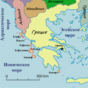 Ionian Islands Map