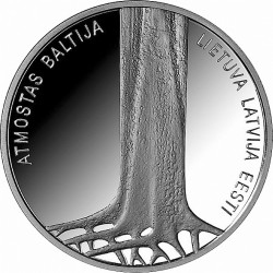 Latvia 2014. 5 Euro. Baltic Way