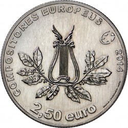 Portugal 2014. 2.5 euro. Marcos Portugal (Cu-Ni)