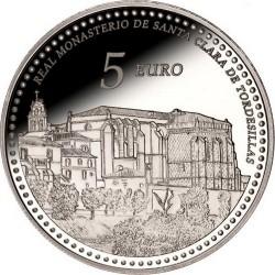 Spain 2014. 5 euro. Real Monasterio de Santa Clara de Tordesillas