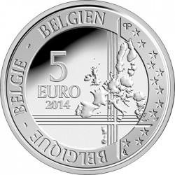 Belgium 2014. 5 Euro. Higgs Boson Teilchen