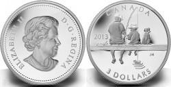 Canada 2013. 3 dollars. Fishing