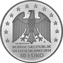 Germany 2014. 10 euro. Johann Gottfried Schadow (Ag 925)