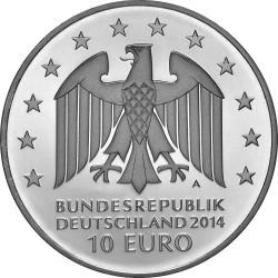 Germany 2014. 10 euro. Johann Gottfried Schadow (Cu-Ni)