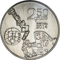 Portugal 2014 2.5 euro University of Coimbra (Cu-Ni)