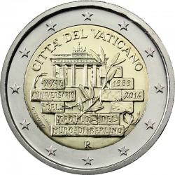 2 euro. Vatican 2014. Berlin Wall