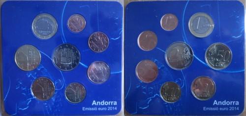 Andorra euro coina 2014 KMS UNC