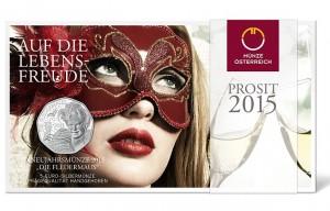 Austria 2015. 5 euro. Fledermaus