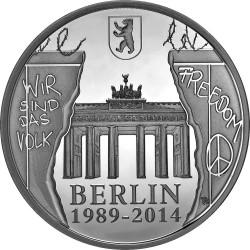 Belgium 2014. 20 euro. Berlin Wall