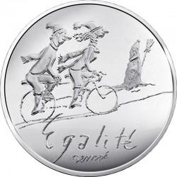 France 2014. 10 euro. Egalite hiver