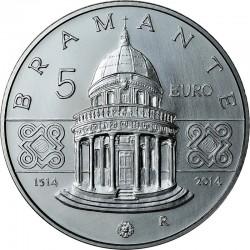 Italy 2014. 5 euro. Donato Bramante
