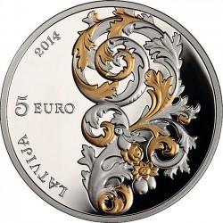 Latvia 2014. 5 euro. Kurzemes Baroks