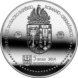 Portugal 2014. 5 euro. Leonor de Portugal. Cu-Ni