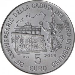 San Marino 2014. 5 euro. Berliner Mauer