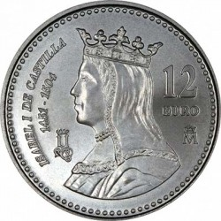 Spain 2004. 12 euro. Isabella I of Castile