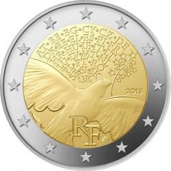 2 euro France 2015 Peace