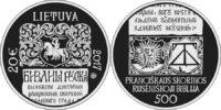 Lithuania 2017 20 euro Francysk Skaryna