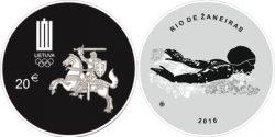 Litva 2016 20 euro Rio