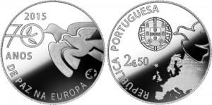 Portugal 2015 2.5 euro Peace