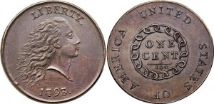 US penny 1793