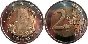 2 euro Spain false