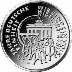 Germany 2015. 25 euro. Deutsche einheit