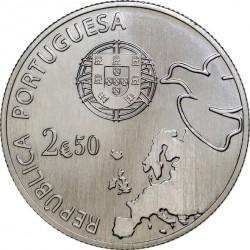 Португалия, 2,5 евро (Cu-Ni). аверс