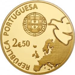 Португалия, 2,5 евро (Au 999). аверс