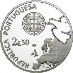 Португалия, 2,5 евро (Ag 925). аверс