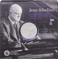 Finland 2015 10 euro Jean Sibelius box