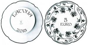Latvian transparent coin 2