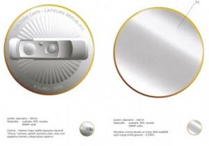 Latvian transparent coin 3