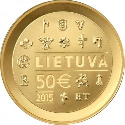 Lithuania 2015. 50 euro Minting of coins