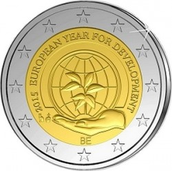 2 euro Belgiym 2015 EYD
