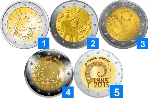 EU flag coins