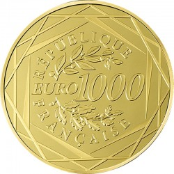 France 2015. 1000 euro. Coq
